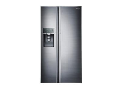 """36"""" Samsung  Counter Depth 22 cu.ft Side-by-Side Refrigerator (Real Stainless) - RH22H9010SR"""