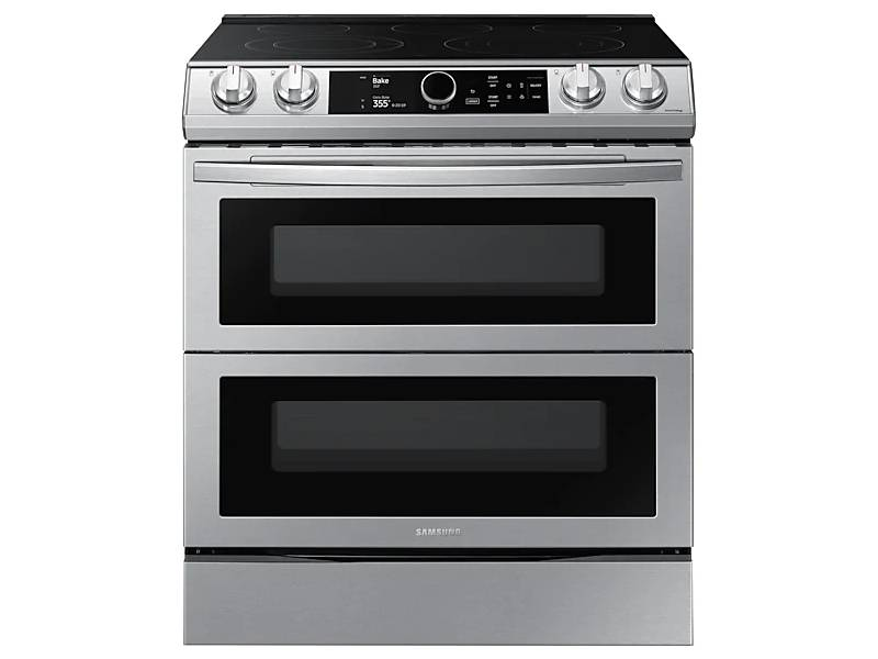 Samsung Ne63t8751ss 30 6 3 Cu Ft Electric Range With Flex Duo And