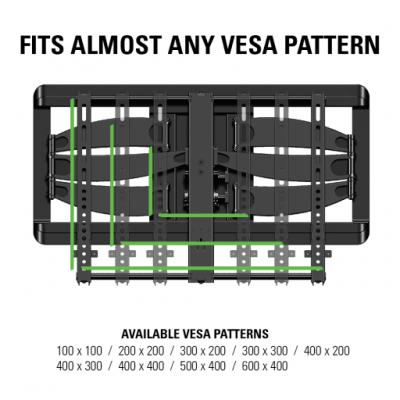 """Sanus Full-Motion With  Mount For 46"""" - 90"""" flat-panel TVs  - VLF628-B1"""